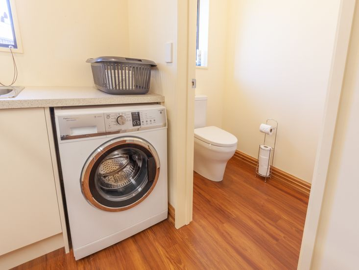 Laundry and separate toilet