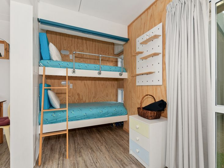 Bunk beds in the sunroom
