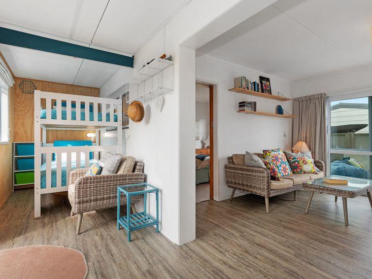 Sunroom onto living area