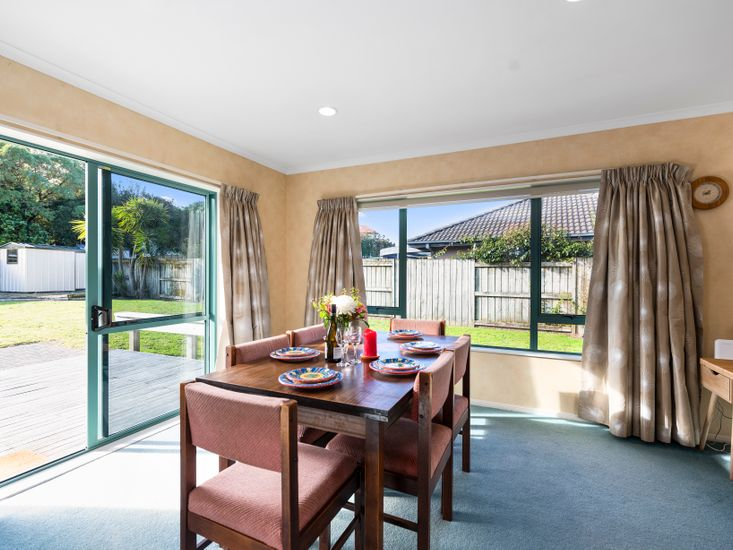 Dining table - opens out to the sundeck