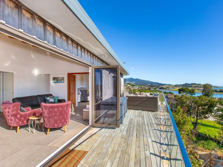 Indoor/outdoor flow out to stunning views