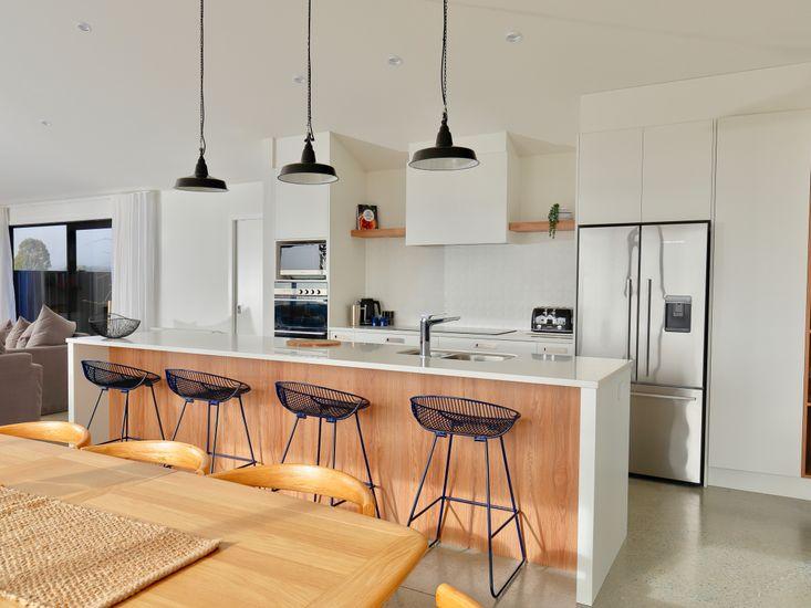Spacious modern kitchen and breakfast
