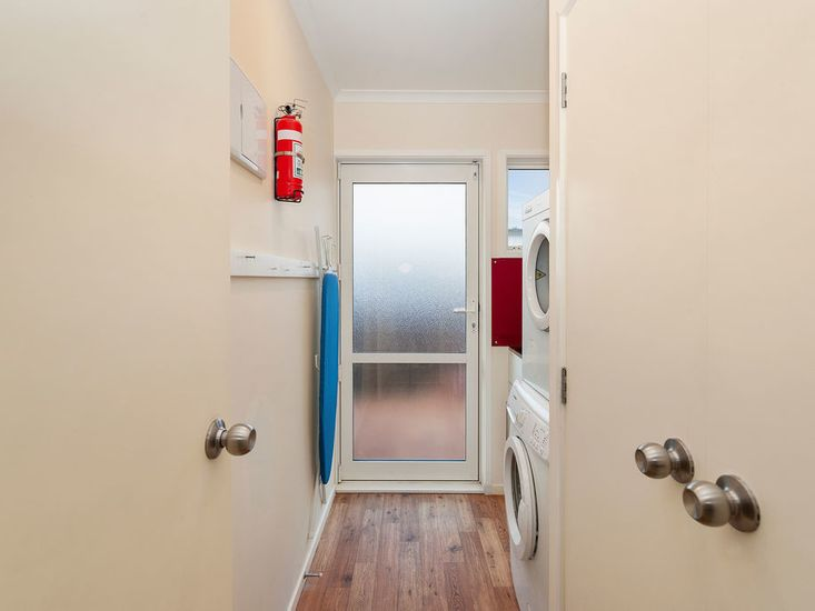 Laundry and back door