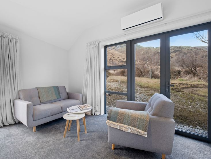 Sitting area - views out every window