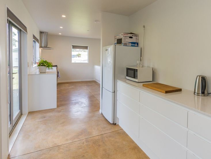 Spacious pantry and kitchen area