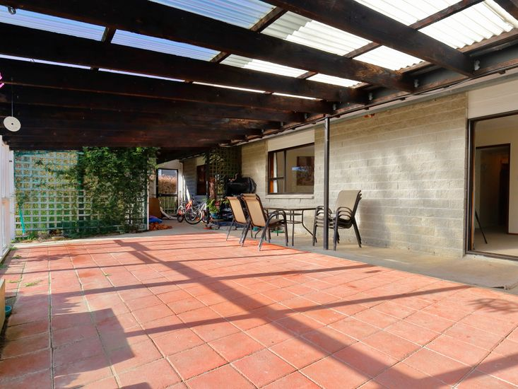 Sheltered outdoor patio