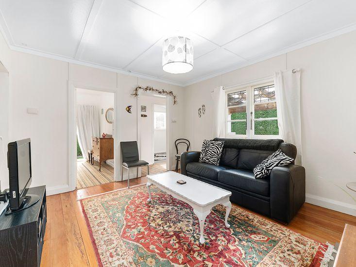 Lounge room onto bedroom