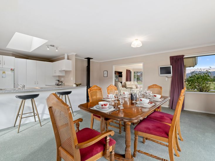 Dining and kitchen onto lounge room