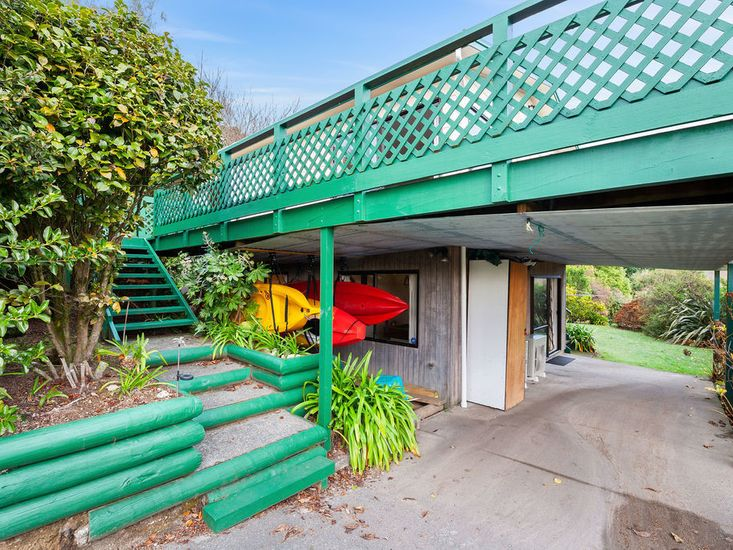 Carport and stairs