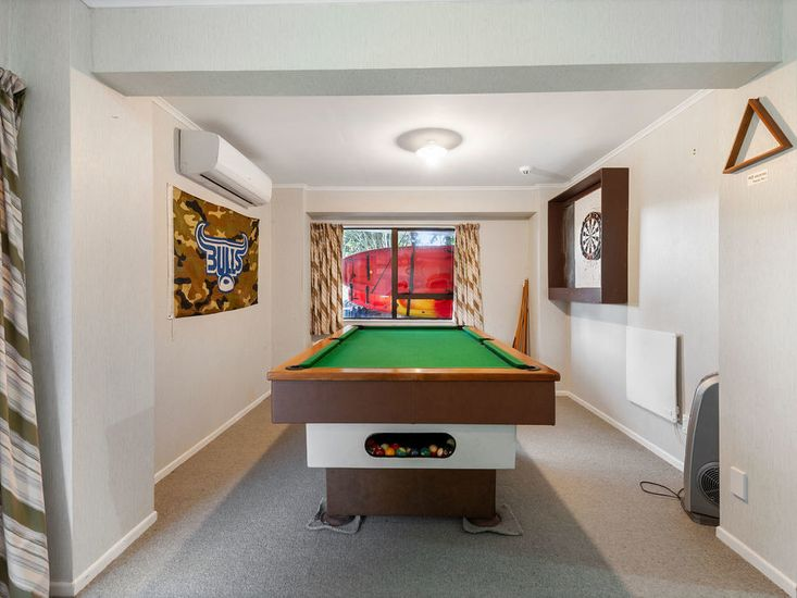 Pool table in downstairs lounge