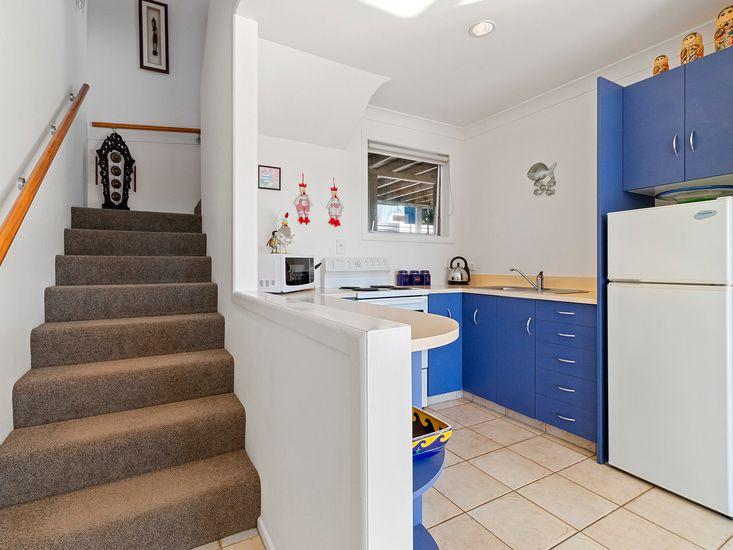 Ground floor kitchen and stairs