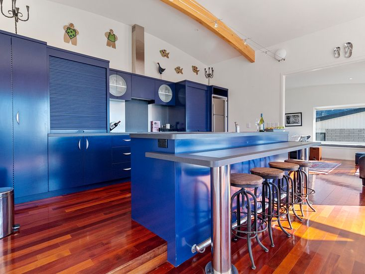 Large upstairs kitchen and breakfast bar