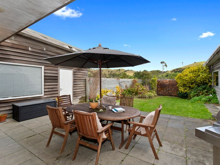 Dedicated outdoor dining and BBQ patio