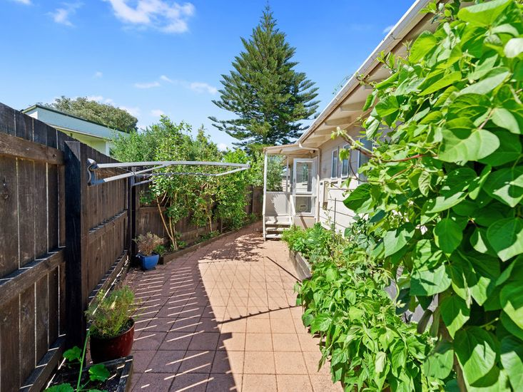 Sunny exterior and side garden