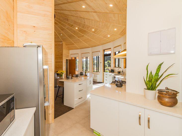 Pantry onto living areas