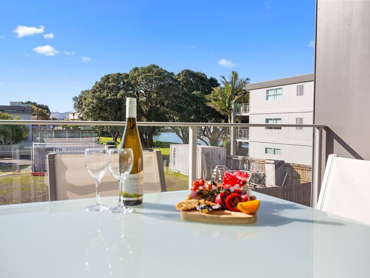 Views to Whitianga Harbour from the balcony