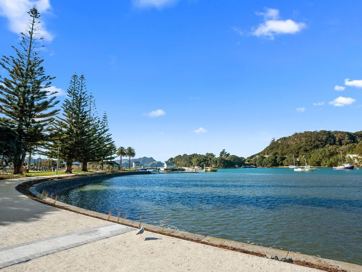 Across the road from Whitianga Harbour