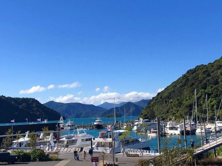 Views of the marina and surrounding landscapes