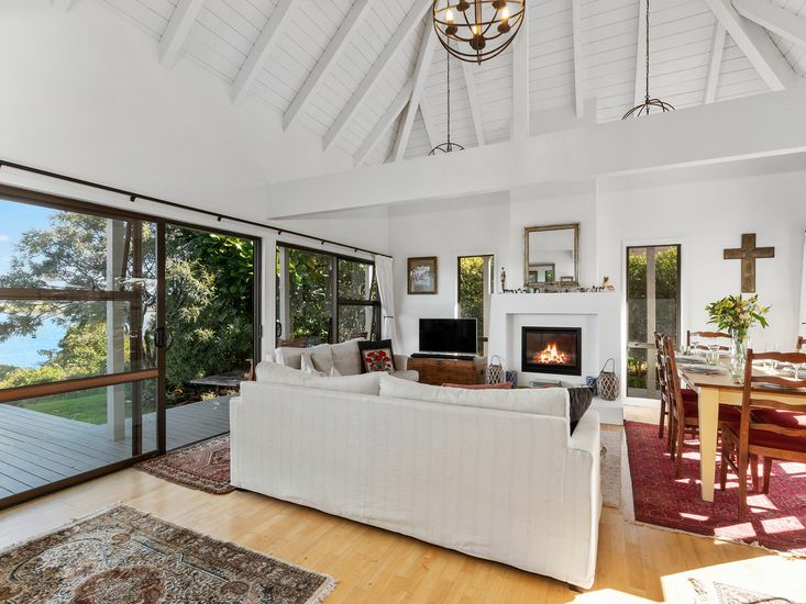 Spacious lounge opens out to the sundeck