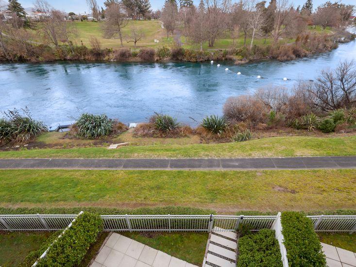 Garden backs onto the Waikato river and harbour walkway