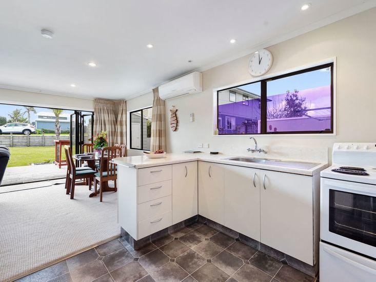 Kitchen onto dining