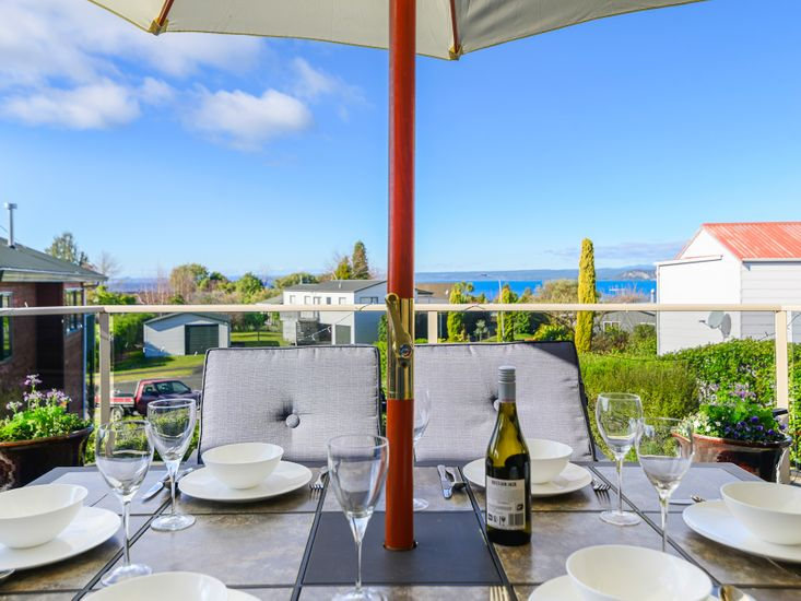 Outdoor dining with a view!