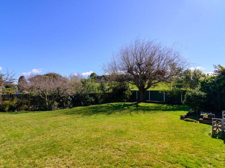 Spacious back lawn and garden