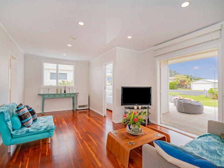 two-tone lounge area