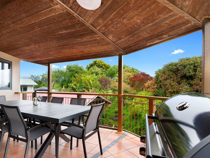 Sheltered outdoor dining and BBQ area on the sundeck