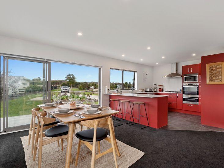Dining area onto kitchen