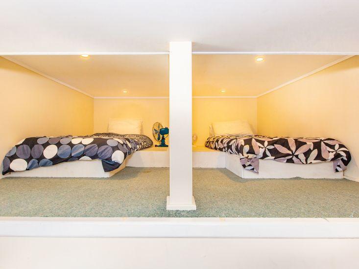 Sleeping cubbyhole in the downstairs rumpus room