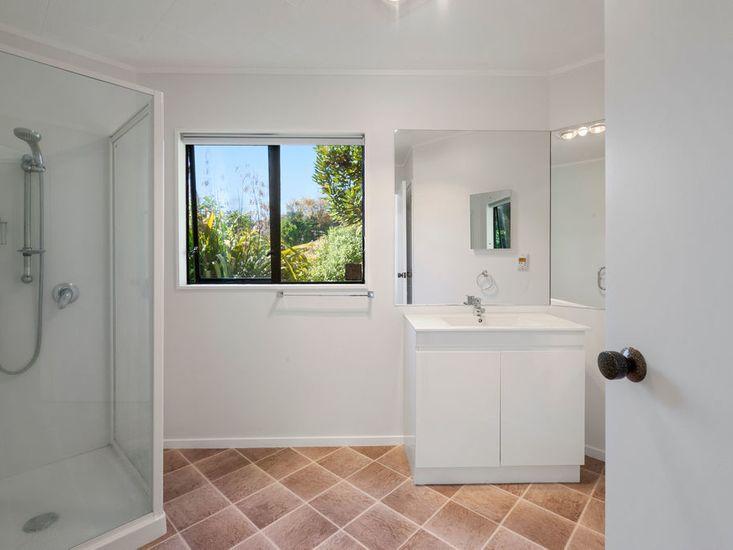 Bathroom one amenities