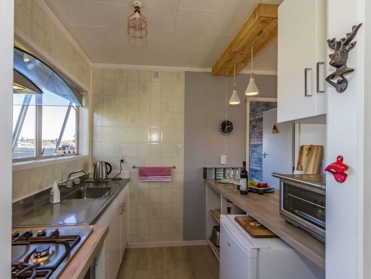 Kitchen area with rustic furnishings