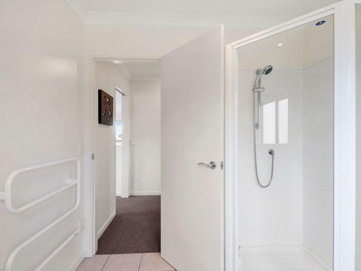 Bathroom doorway