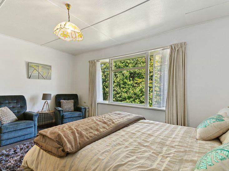 Bedroom one - Light coloured furnishings