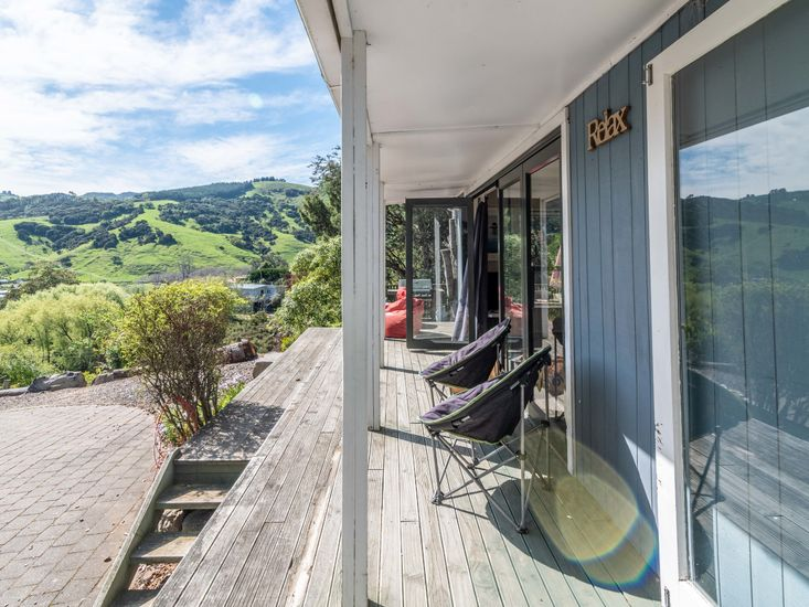 Sheltered sundeck for outdoor living and admiring the views