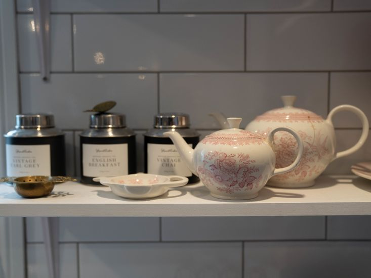 Painted tea set