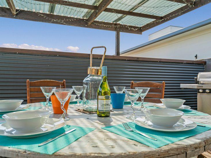 Alfresco dining in summer