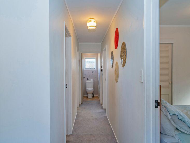 Hallway onto bedrooms and bathrooms