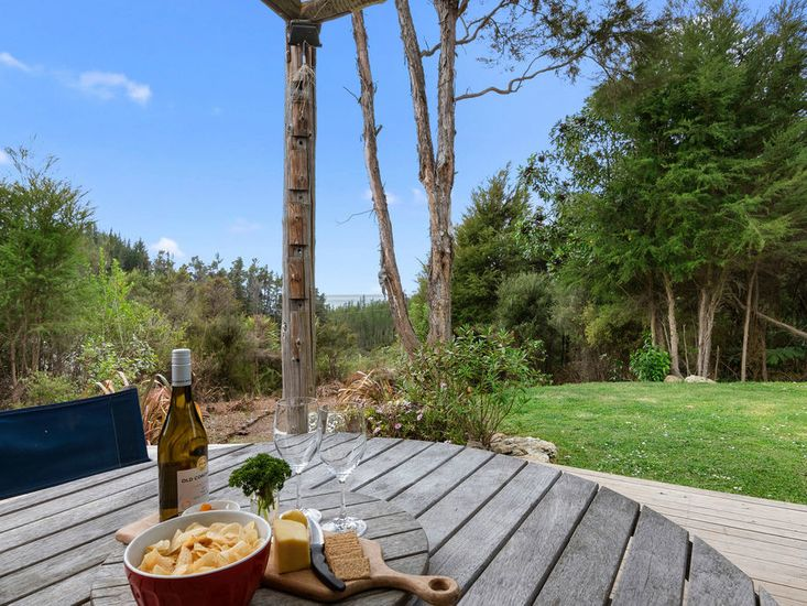 Sheltered outdoor dining