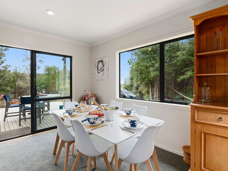 Dining area opens out onto the outdoor areas
