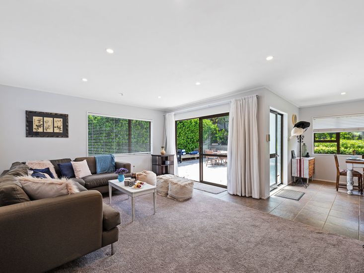 Open plan living opens out to the courtyard and garden