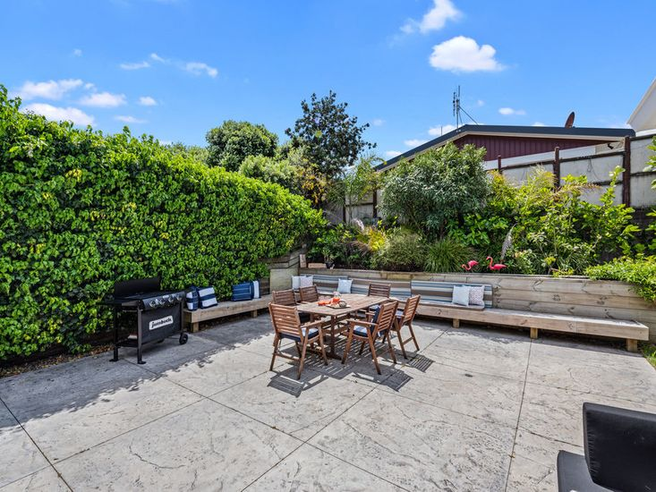 Spacious outdoor living and dining area