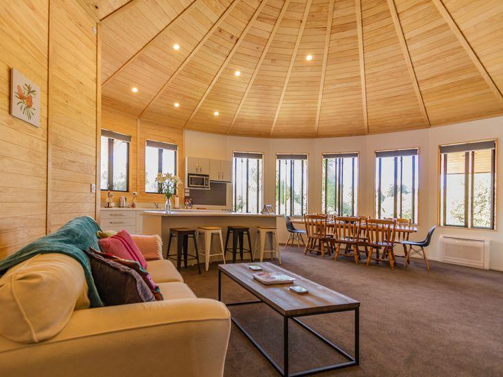 Open yurt living