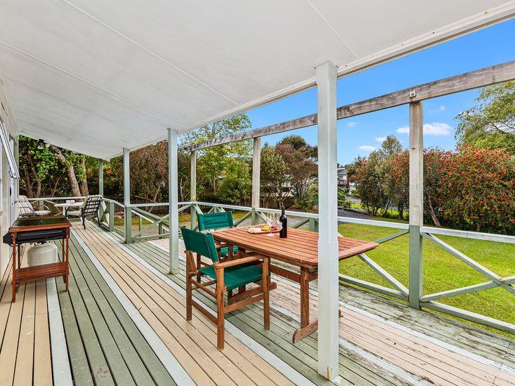 Outdoor deck area