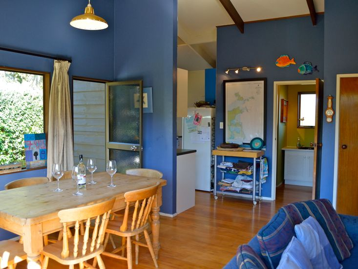 Dining to Kitchen and Bathroom